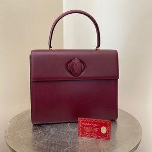 ***SOLD*** Cartier Burgundy Top Handle Bag